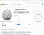 Amagi Metals American Silver Eagles cart page displaying in bitcoin prices