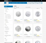 The silver coins page at Amagi Metals